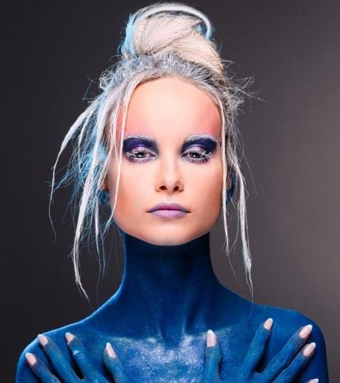 Makijaż na avatara, makijaż avatar, avatar bodypainting